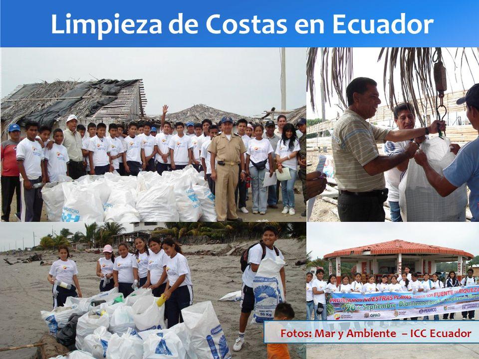 Limpieza de Costas en Ecuador Fotos: Mar y Ambiente – ICC Ecuador