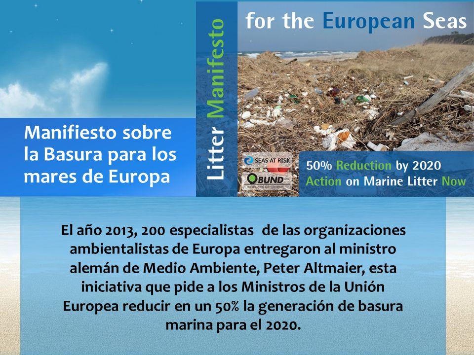 El año 2013, 200 especialistas de las organizaciones ambientalistas de Europa entregaron al ministro alemán de Medio Ambiente, Peter Altmaier, esta in