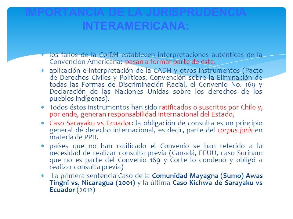 los fallos de la CoIDH establecen interpretaciones auténticas de la Convención Americana: pasan a formar parte de ésta. aplicación e interpretación de