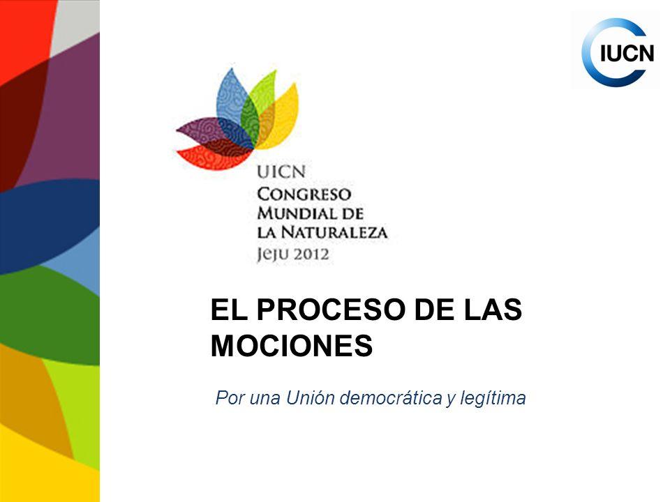 Jeju 2012 Términos de referencia del Grupo de Trabajo sobre Resoluciones: Establecer procedimientos específicos para el proceso de las mociones y los principios según los cuales serán evaluadas.