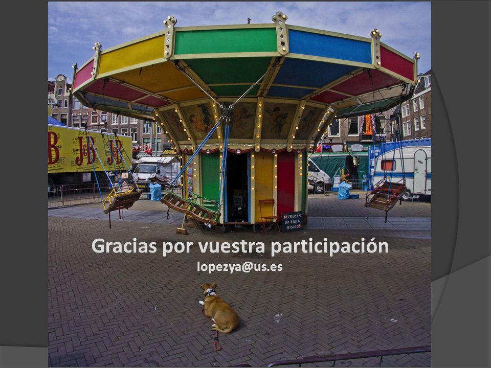 Gracias por vuestra participación lopezya@us.es