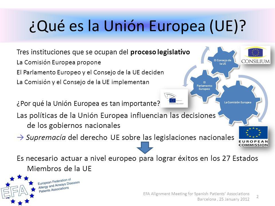¿Qué puede hacer EFA a nivel europeo.