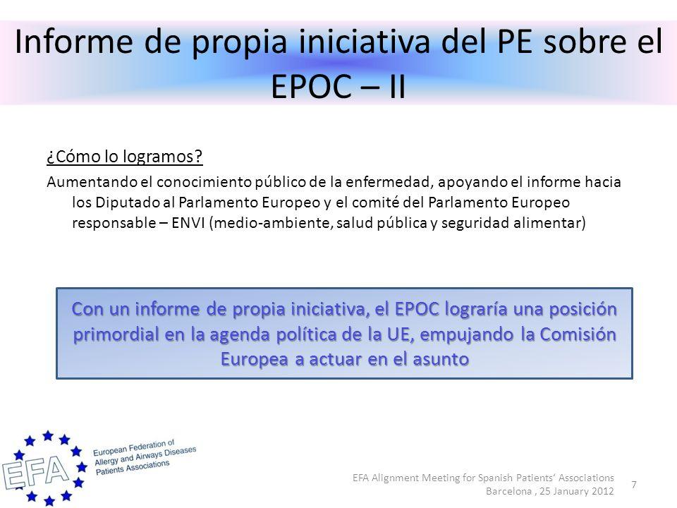 Informe de propia iniciativa del PE sobre el EPOC – II ¿Cómo lo logramos.