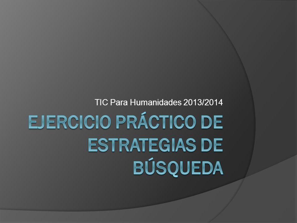 TIC Para Humanidades 2013/2014
