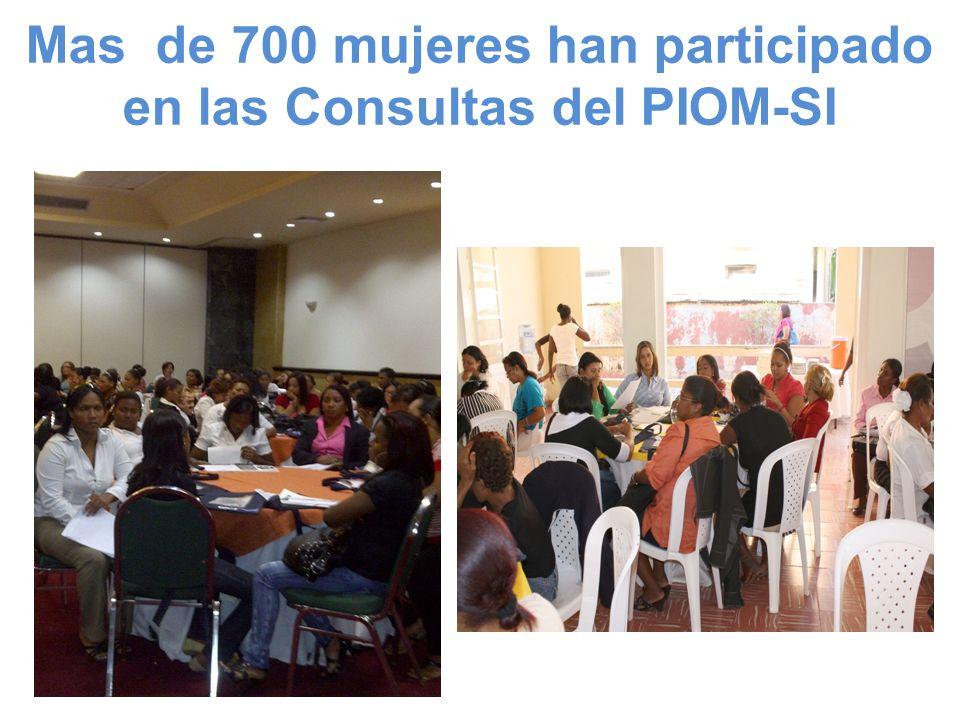Mas de 700 mujeres han participado en las Consultas del PIOM-SI