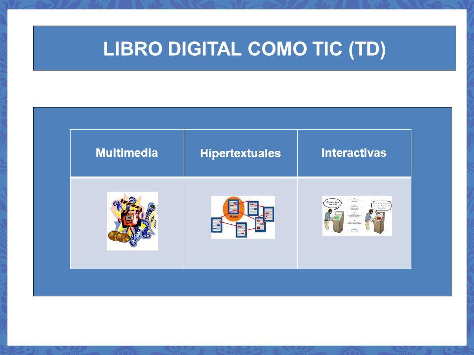 LIBRO DIGITAL COMO TIC (TD) MultimediaHipertextualesInteractivas