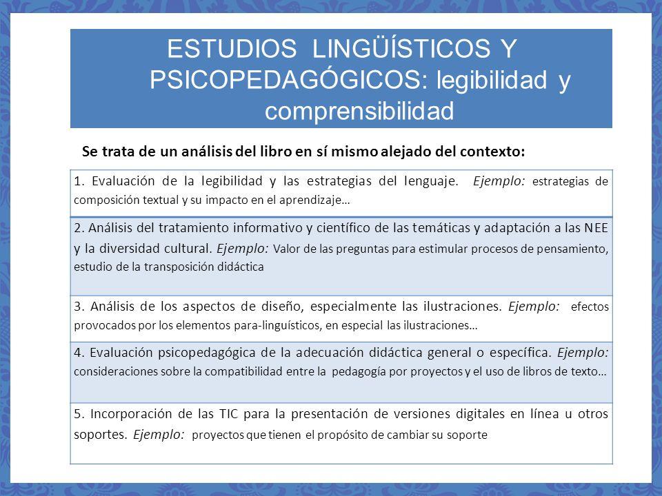 1. Evaluación de la legibilidad y las estrategias del lenguaje. Ejemplo: estrategias de composición textual y su impacto en el aprendizaje… 2. Análisi