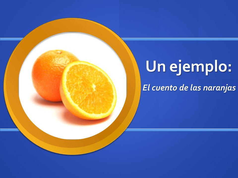 Un ejemplo: El cuento de las naranjas