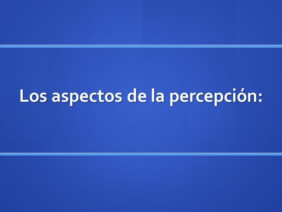 Los aspectos de la percepción: