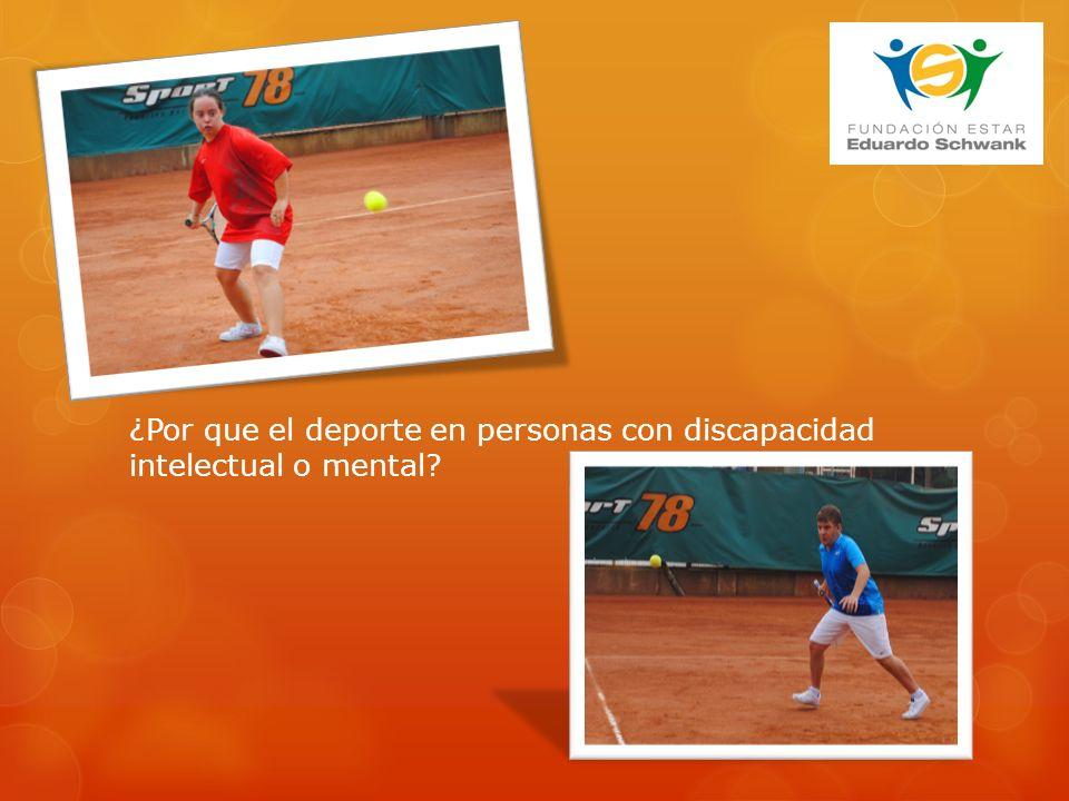 ¿Por que el deporte en personas con discapacidad intelectual o mental