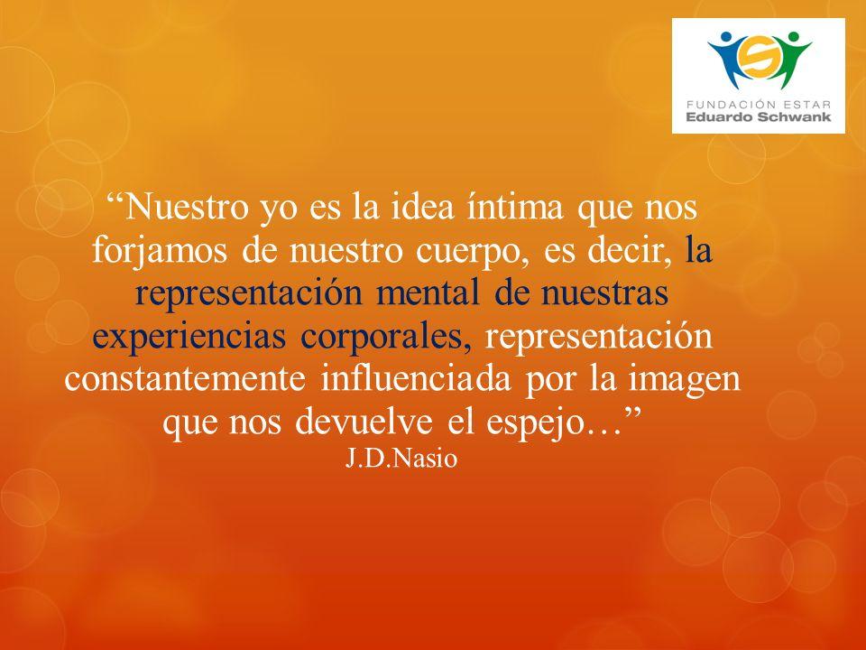 Nuestro yo es la idea íntima que nos forjamos de nuestro cuerpo, es decir, la representación mental de nuestras experiencias corporales, representación constantemente influenciada por la imagen que nos devuelve el espejo… J.D.Nasio