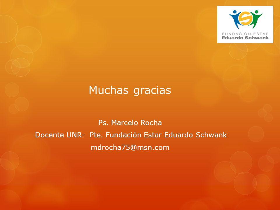 Muchas gracias Ps. Marcelo Rocha Docente UNR- Pte.