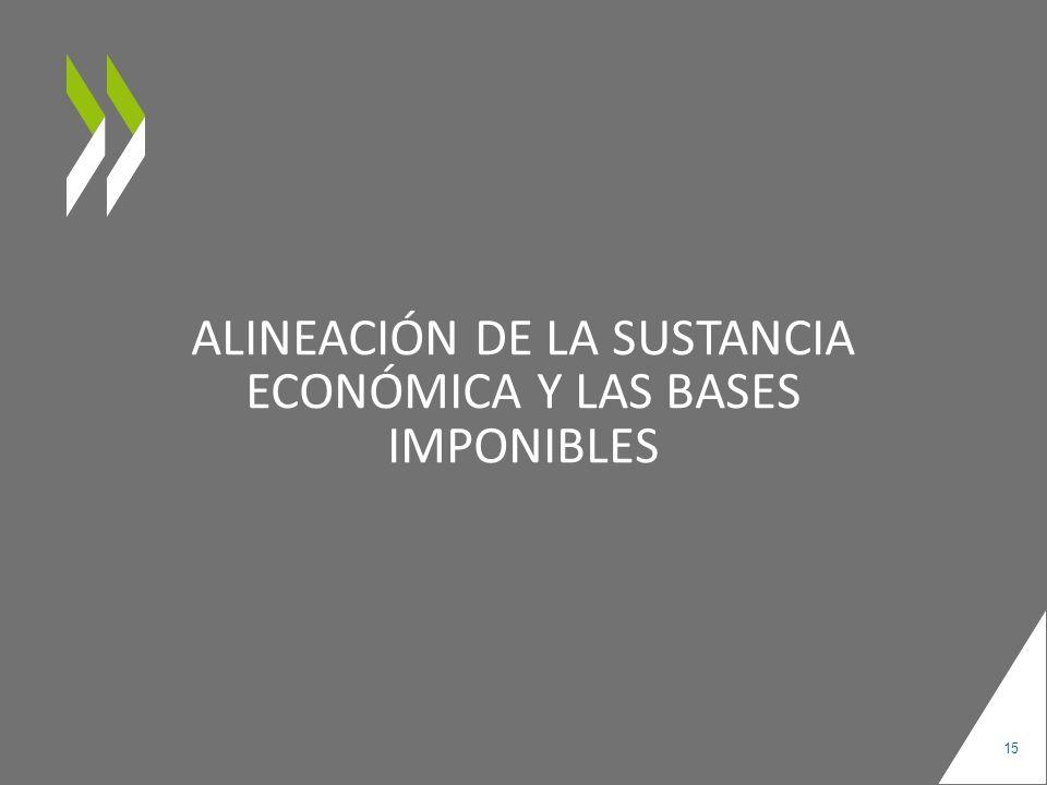 ALINEACIÓN DE LA SUSTANCIA ECONÓMICA Y LAS BASES IMPONIBLES 15