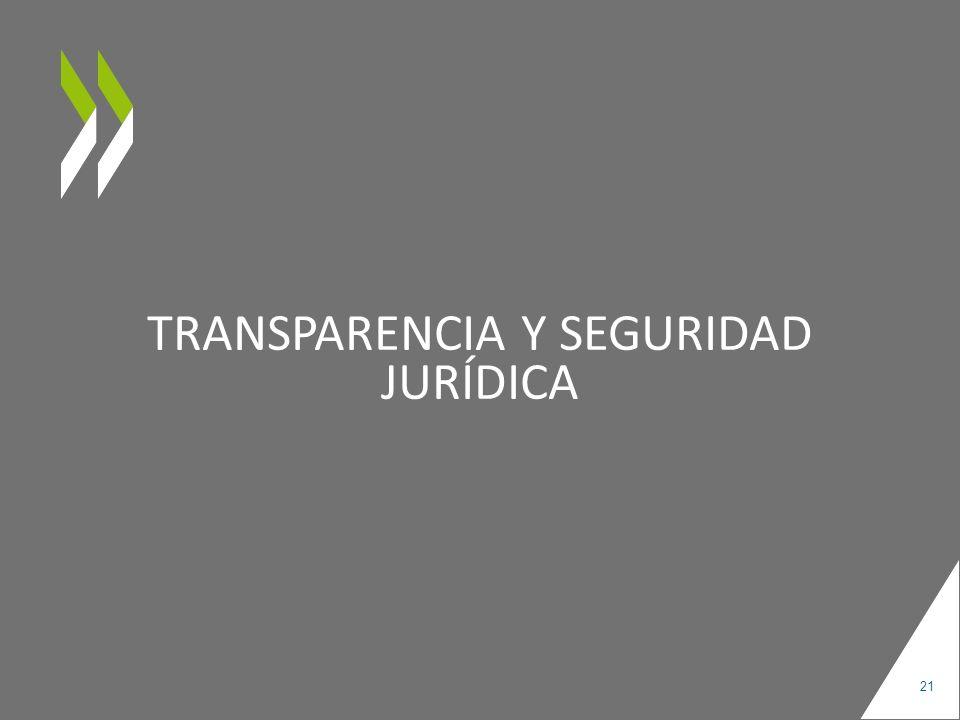 TRANSPARENCIA Y SEGURIDAD JURÍDICA 21