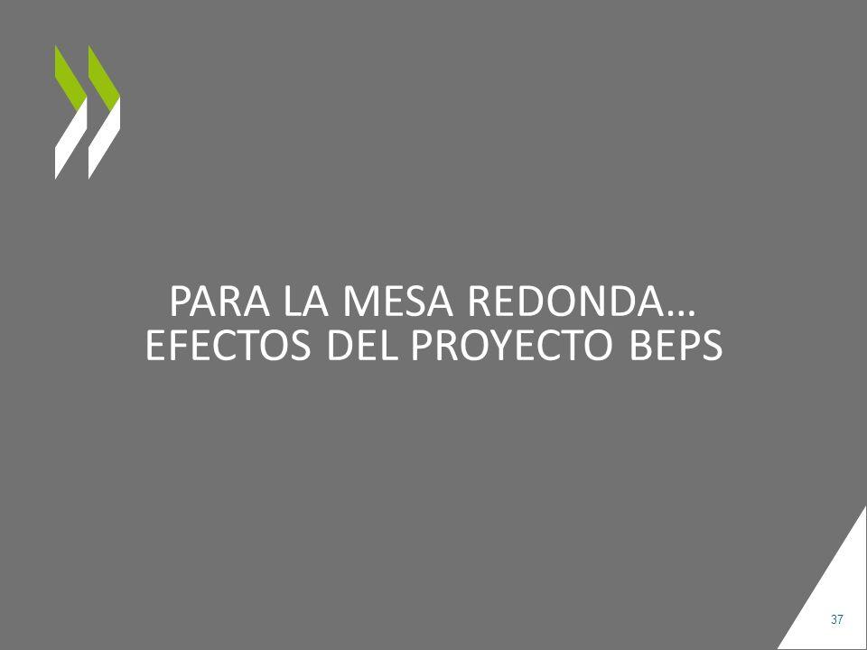 PARA LA MESA REDONDA… EFECTOS DEL PROYECTO BEPS 37