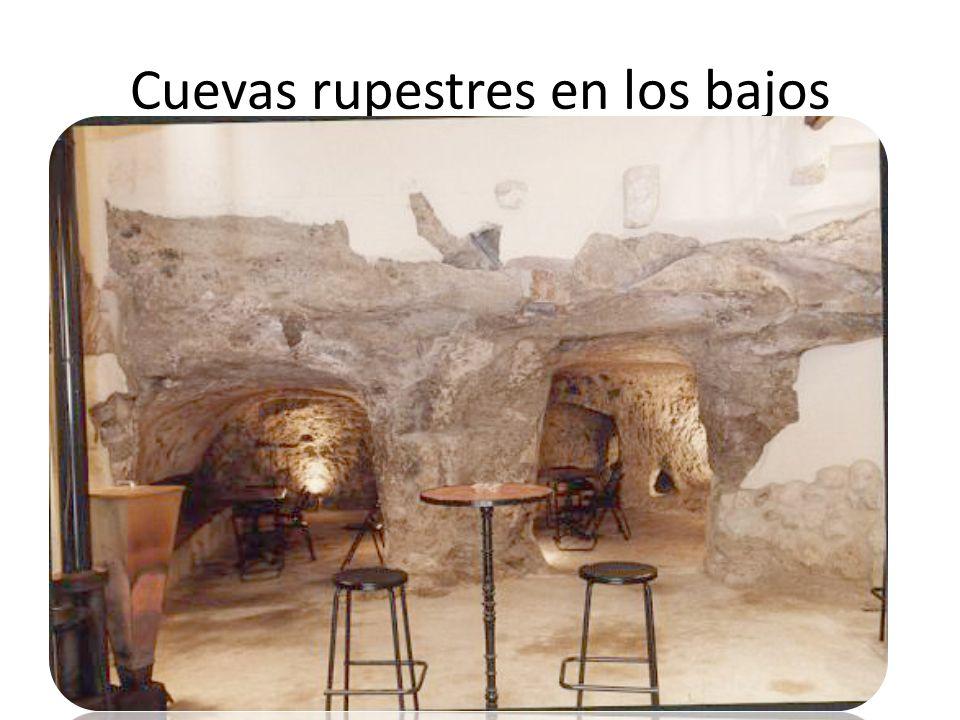 Cuevas rupestres en los bajos