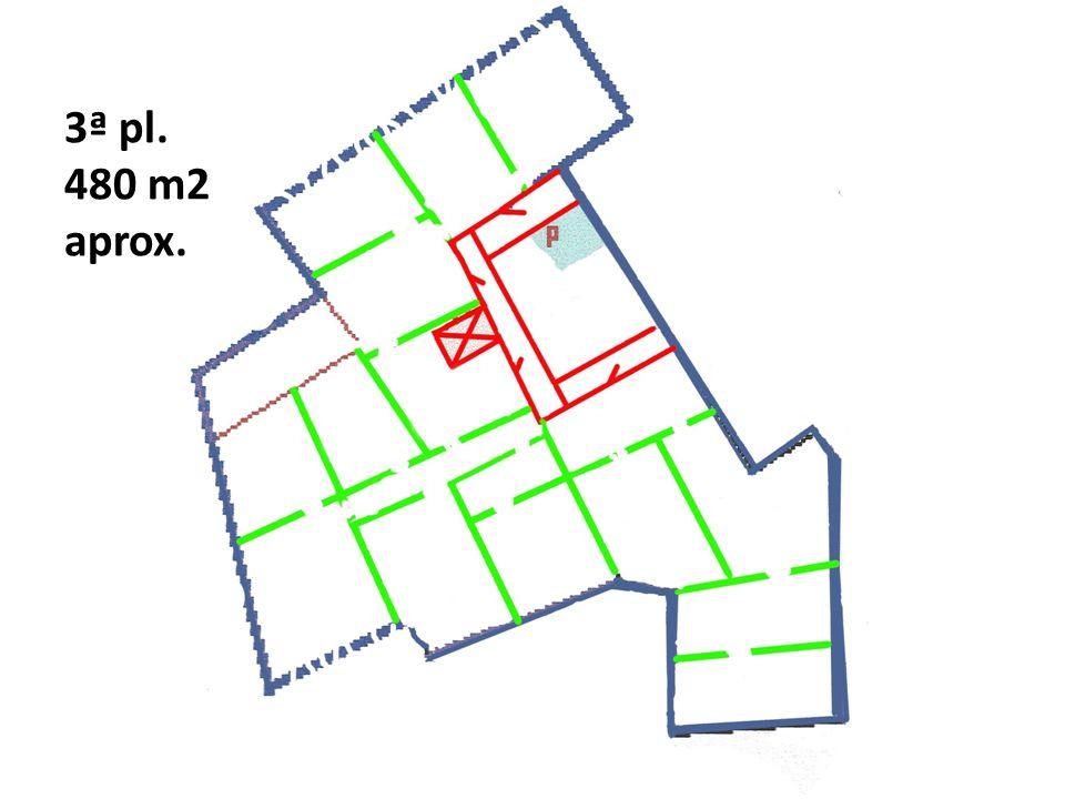 3ª pl. 480 m2 aprox.