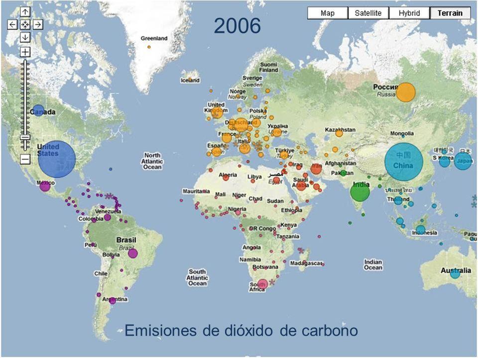 2006 Emisiones de dióxido de carbono