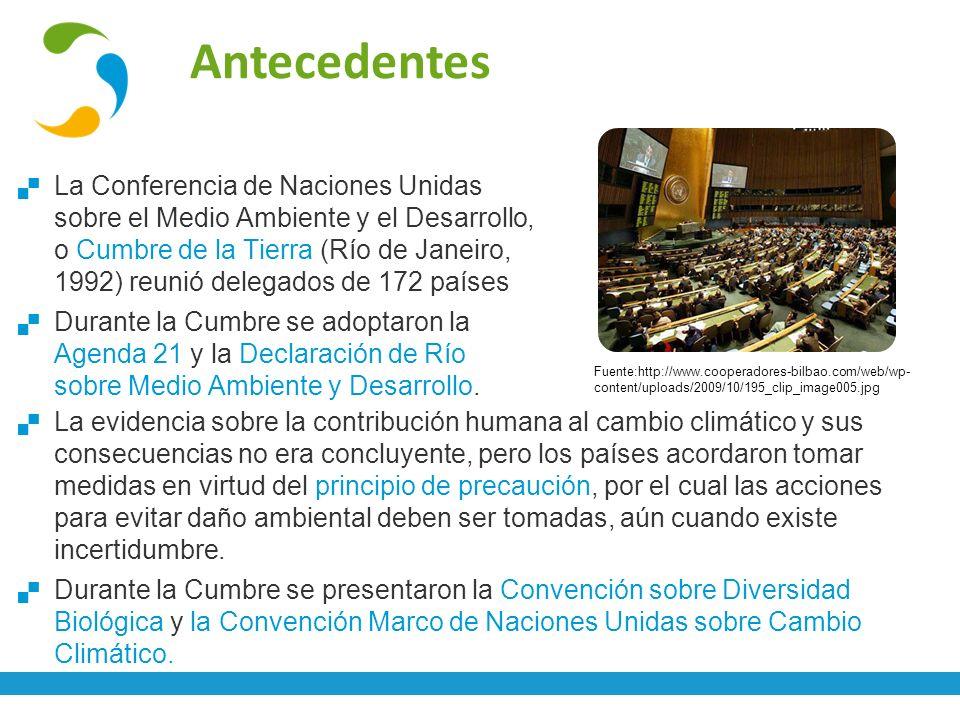 Convención Marco de las Naciones Unidas sobre Cambio Climático La Convención Marco de Naciones Unidas sobre Cambio Climático (UNFCCC) ha sido ratificada por 194 Partes.