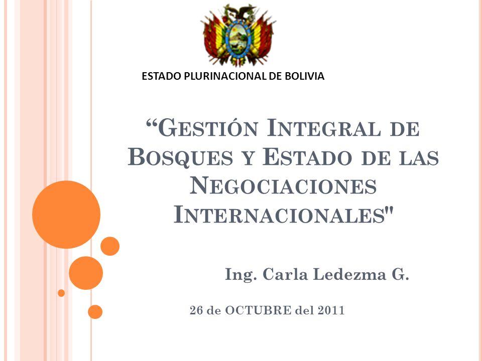 N EGOCIACIONES INTERNACIONES SOBRE BOSQUES Foro de las Naciones Unidas sobre bosques El Consejo Económico y Social de las Naciones Unidas (ECOSOC) (Resol.