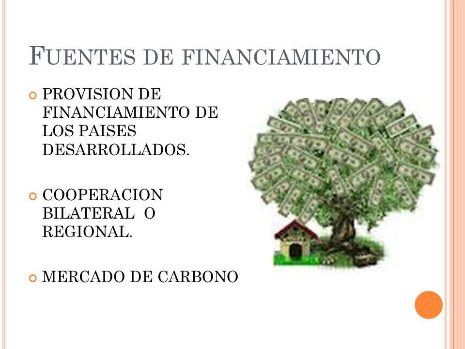 F UENTES DE FINANCIAMIENTO PROVISION DE FINANCIAMIENTO DE LOS PAISES DESARROLLADOS.