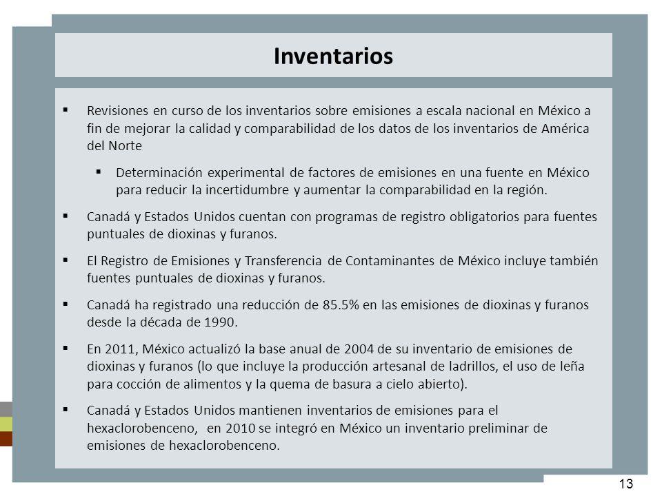 13 Revisiones en curso de los inventarios sobre emisiones a escala nacional en México a fin de mejorar la calidad y comparabilidad de los datos de los
