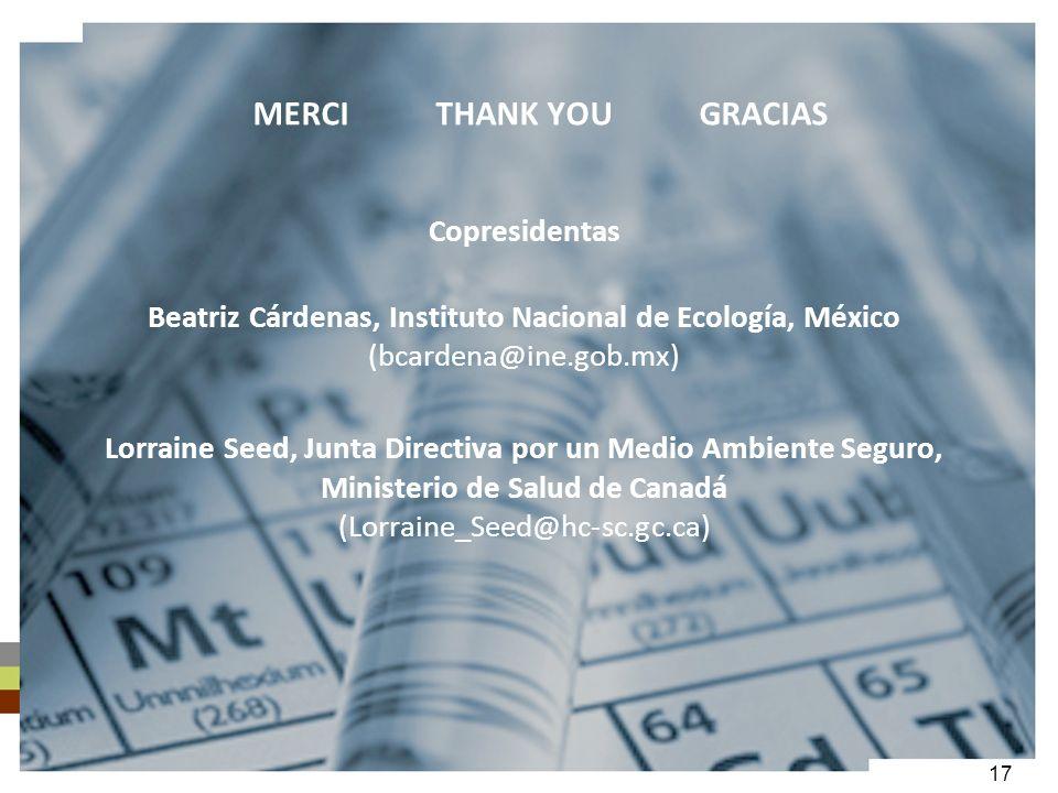 17 MERCI THANK YOU GRACIAS Copresidentas Beatriz Cárdenas, Instituto Nacional de Ecología, México (bcardena@ine.gob.mx) Lorraine Seed, Junta Directiva