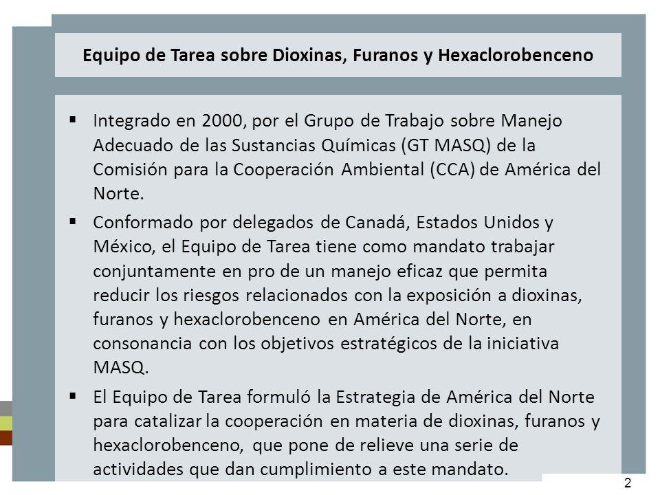 2 Integrado en 2000, por el Grupo de Trabajo sobre Manejo Adecuado de las Sustancias Químicas (GT MASQ) de la Comisión para la Cooperación Ambiental (