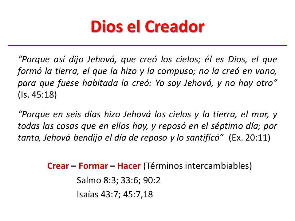 Génesis 1:1-5 1 En el principio creó Dios los cielos y la tierra.