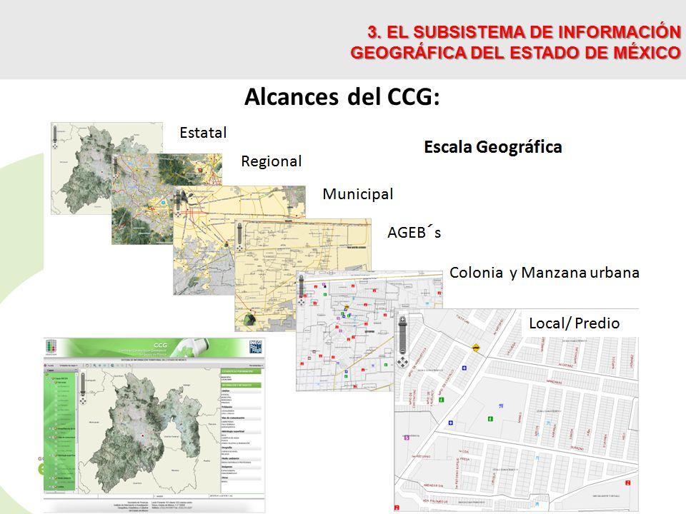 Alcances del CCG: 3. EL SUBSISTEMA DE INFORMACIÓN GEOGRÁFICA DEL ESTADO DE MÉXICO