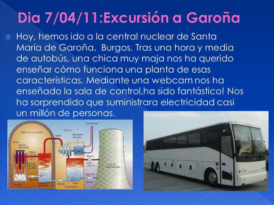 Hoy, hemos ido a la central nuclear de Santa María de Garoña, Burgos.