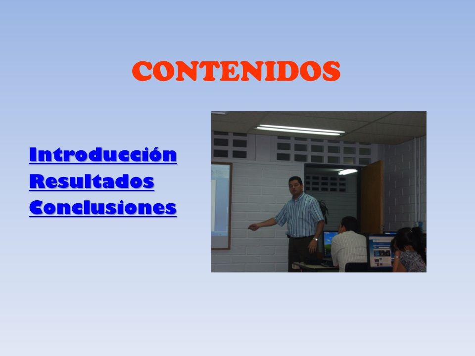 CONTENIDOS Introducción Resultados Conclusiones