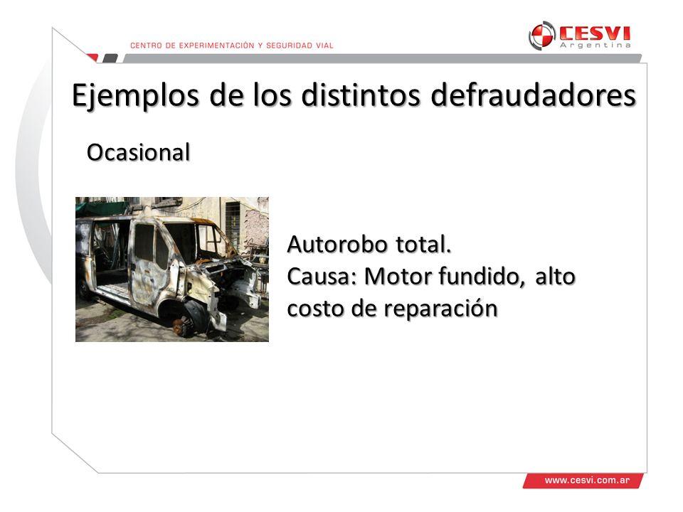 Doble reclamo de la destrucción total del vehículo Doble reclamo un autorobo parcial Repetidores