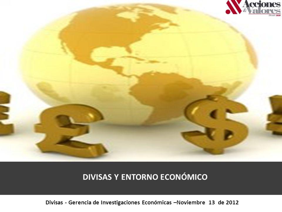 DIVISAS Y ENTORNO ECONÓMICO Divisas - Gerencia de Investigaciones Económicas –Noviembre 13 de 2012