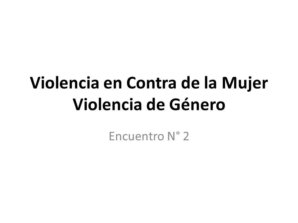 Violencia en Contra de la Mujer Violencia de Género Encuentro N° 2