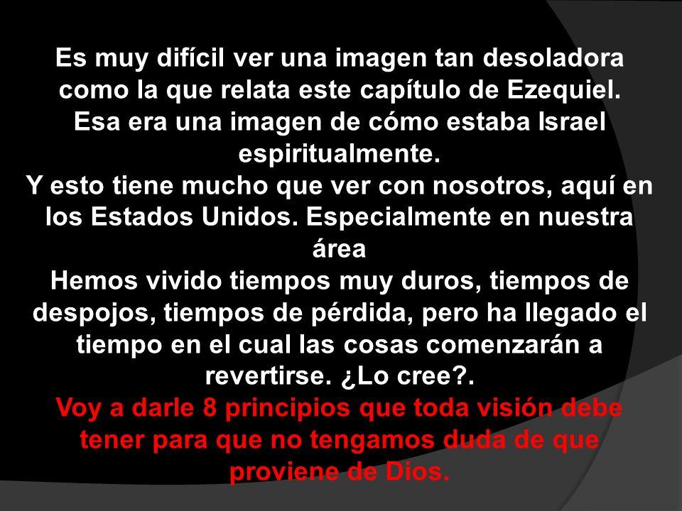 Principio 1 La visión es el mayor regalo que Dios nos puede hacer. V1.