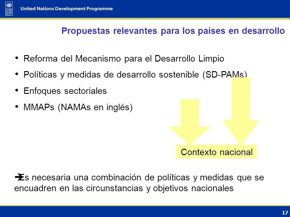 16 Conserva el equilibrio Anexo I / no Anexo I en relación con los esfuerzos de mitigación Aumento del sentido de urgencia de ambos lados MRV implica