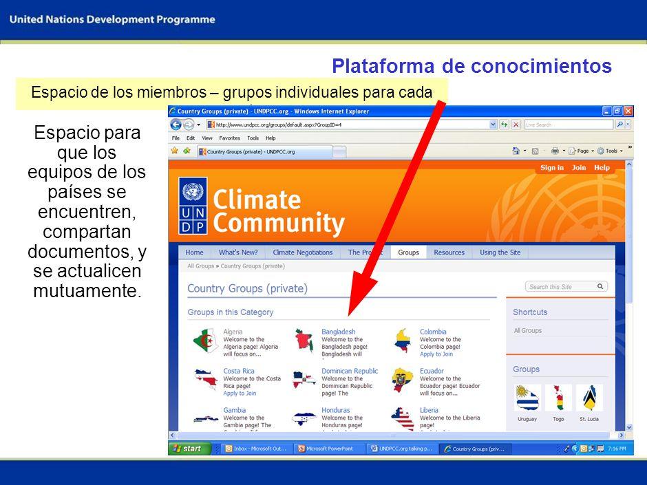 37 Plataforma de conocimientos Espacio público- Únase a la comunidad del clima aquí
