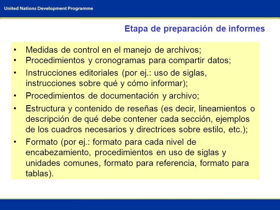 53 Realizar la evaluación de los flujos de I&F (según las directrices metodológicas) Orientación y procedimientos para: Documentación Gestión del sopo