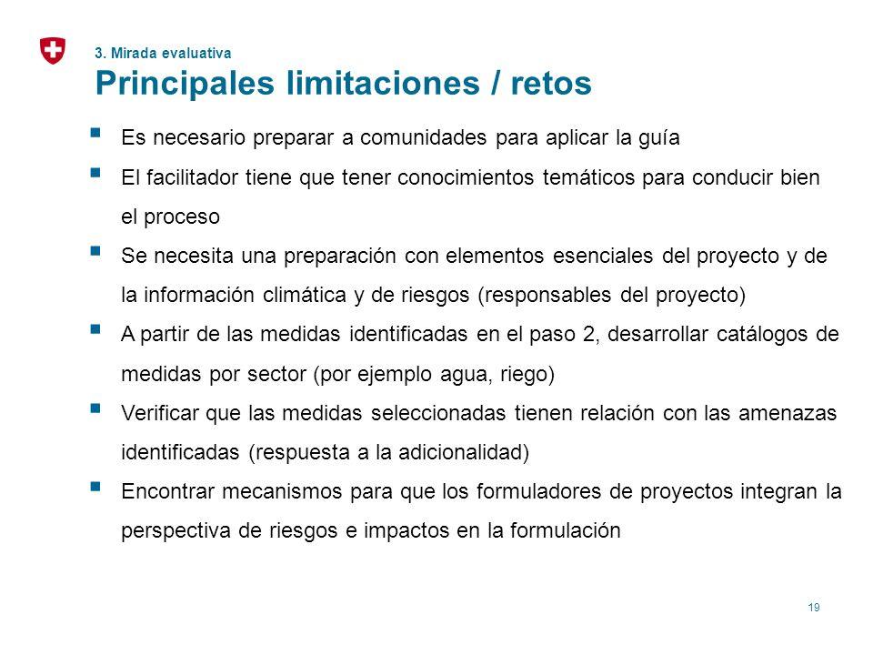 19 Es necesario preparar a comunidades para aplicar la guía El facilitador tiene que tener conocimientos temáticos para conducir bien el proceso Se ne