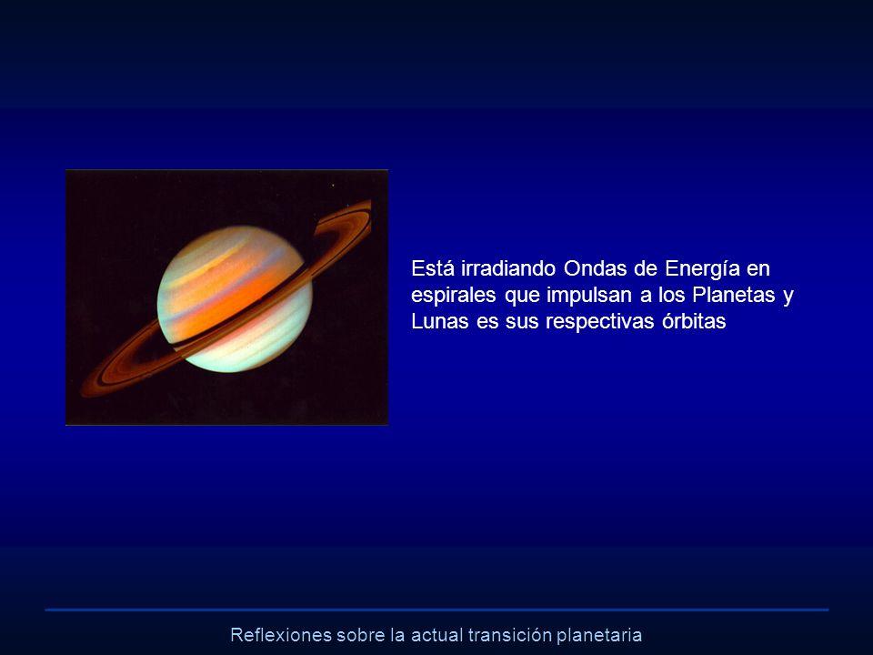 Reflexiones sobre la actual transición planetaria Está irradiando Ondas de Energía en espirales que impulsan a los Planetas y Lunas es sus respectivas
