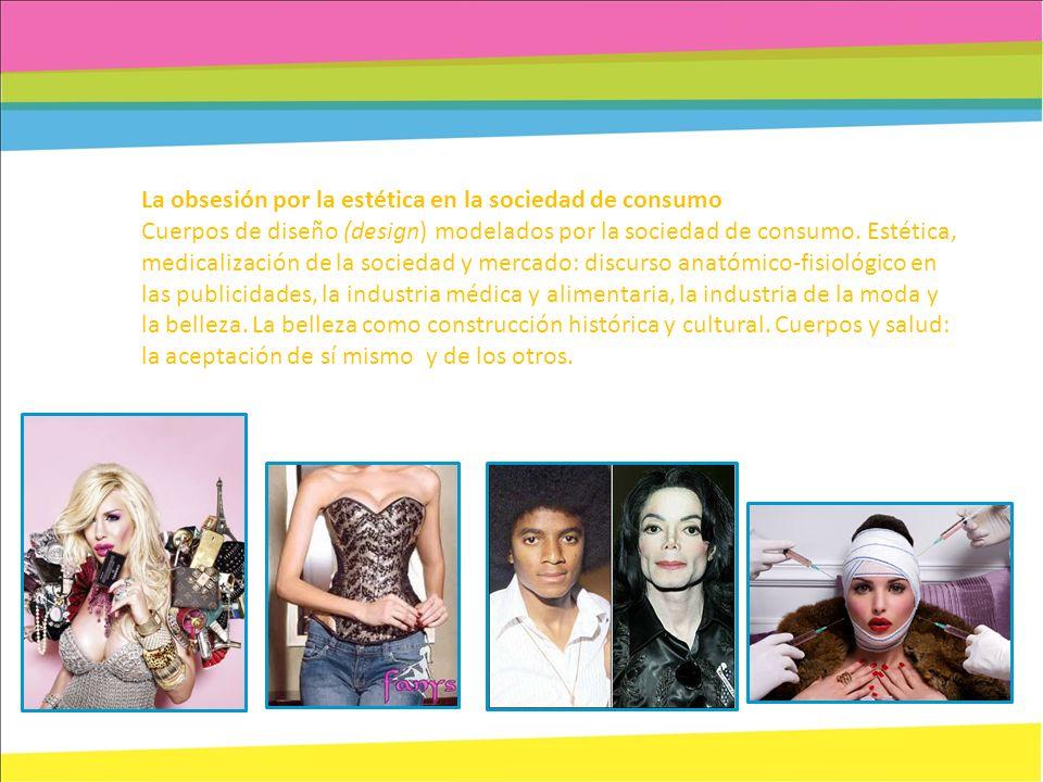 La obsesión por la estética en la sociedad de consumo Cuerpos de diseño (design) modelados por la sociedad de consumo. Estética, medicalización de la