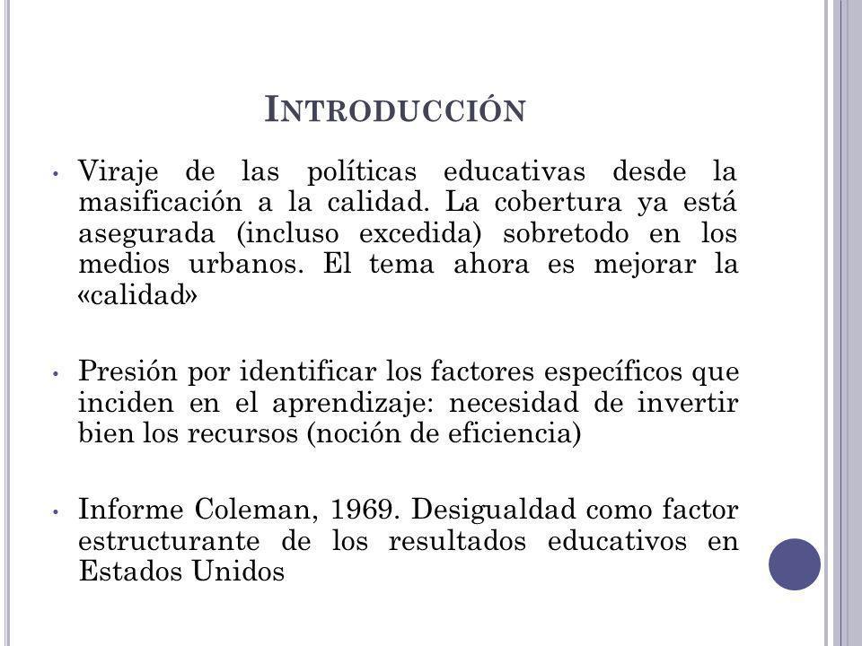 D ISPERSIÓN DE RESULTADOS, 3 º BÁSICO Diferencia entre los resultados de los estudiantes de los percentiles 10 – 90 MatemáticaLectura Menor a 200 puntosColombia, Ecuador, R.