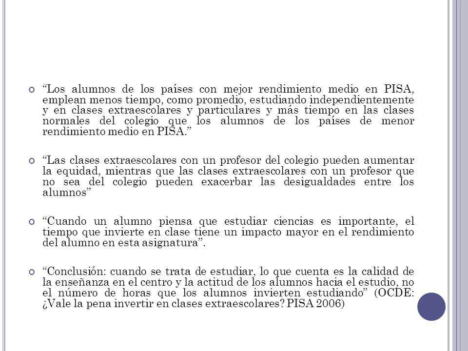 50 CONCLUSIONES (LLECE, 2008) En la región existe una importante diversidad en la calidad del aprendizaje de los estudiantes.