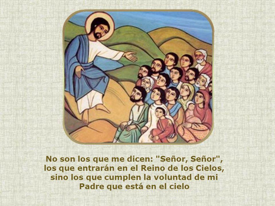 Desde el monte donde predica el Sermón de la Montaña, Jesús continúa sus enseñanzas. Desde el monte donde predica el Sermón de la Montaña, Jesús conti