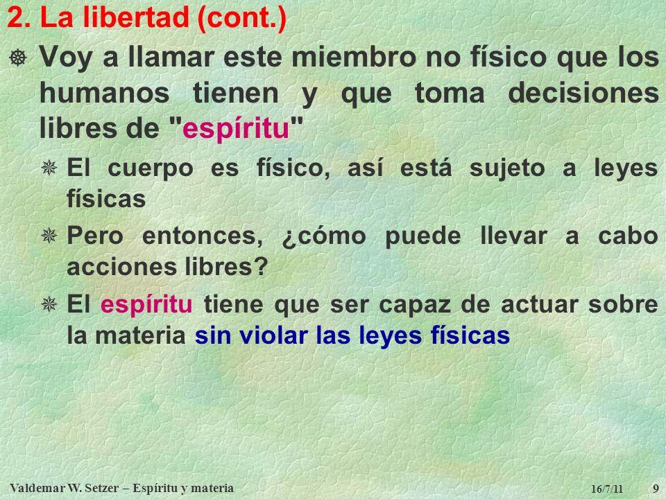 Valdemar W.Setzer – Espíritu y materia 10 16/7/11 3.