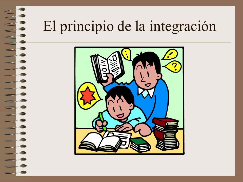 El principio de la integración