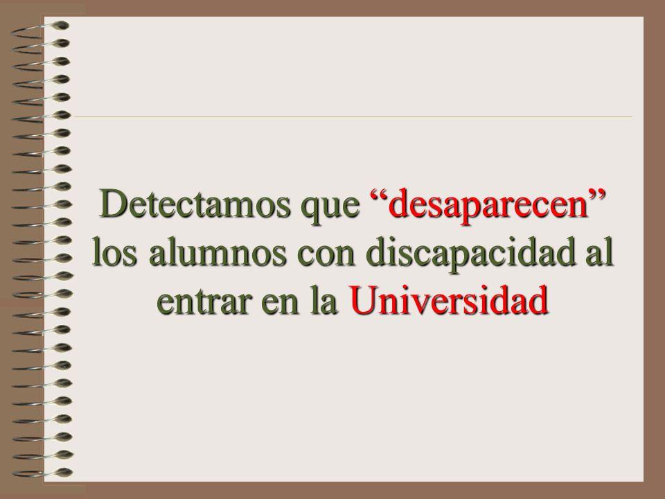 Detectamos que desaparecen los alumnos con discapacidad al entrar en la Universidad