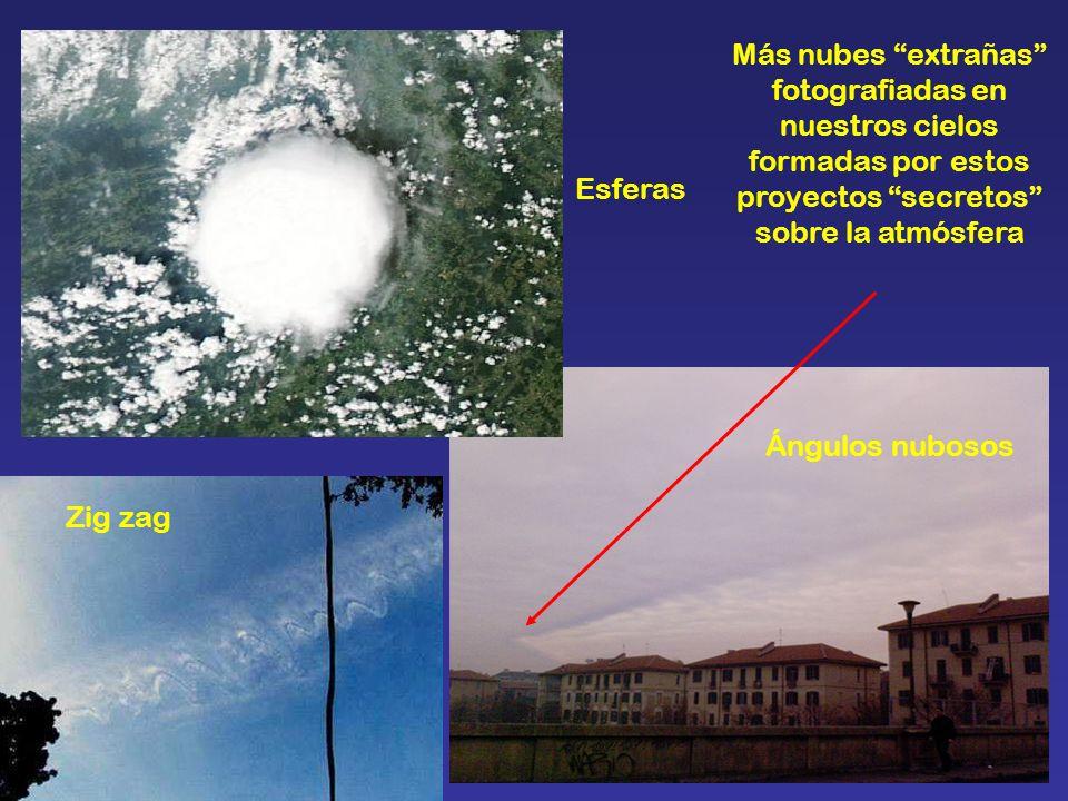 Más nubes extrañas fotografiadas en nuestros cielos formadas por estos proyectos secretos sobre la atmósfera Ángulos nubosos Esferas Zig zag