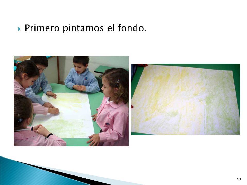 Cada grupo de 5-6 niños y niñas va a realizar su cuadro. Preparamos todo el material necesario. 48